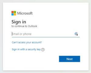 Microsoft SSO Fenster